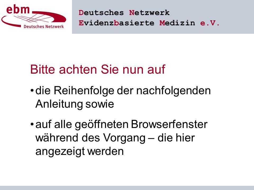 Deutsches Netzwerk Evidenzbasierte Medizin e.V.1.