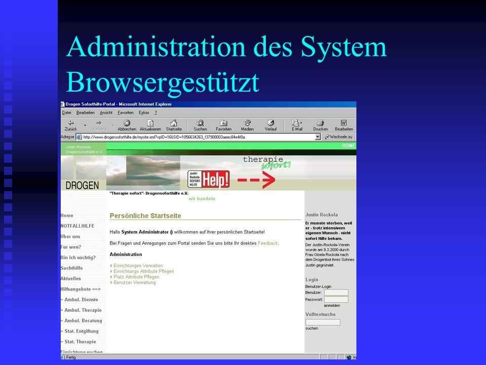 Administration des System Browsergestützt