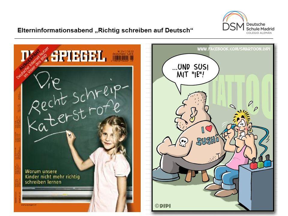 """Elterninformationsabend """"Richtig schreiben auf Deutsch"""""""