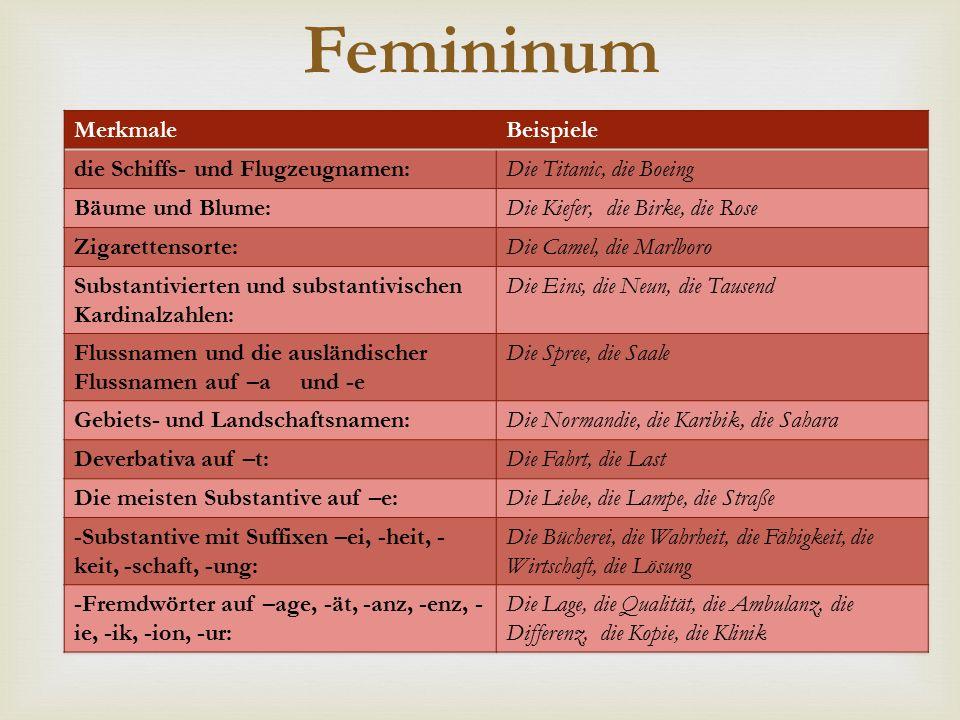  Femininum