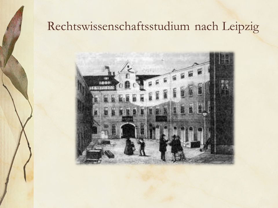 Rechtswissenschaftsstudium nach Leipzig