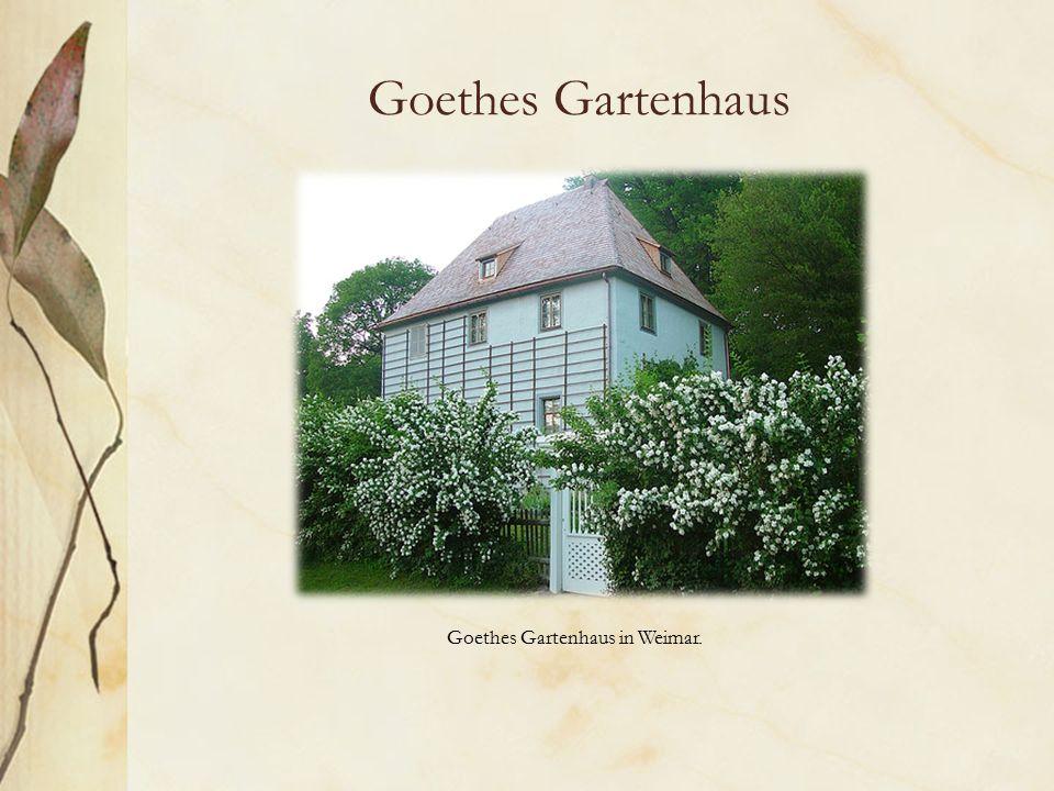 Goethes Gartenhaus Goethes Gartenhaus in Weimar.