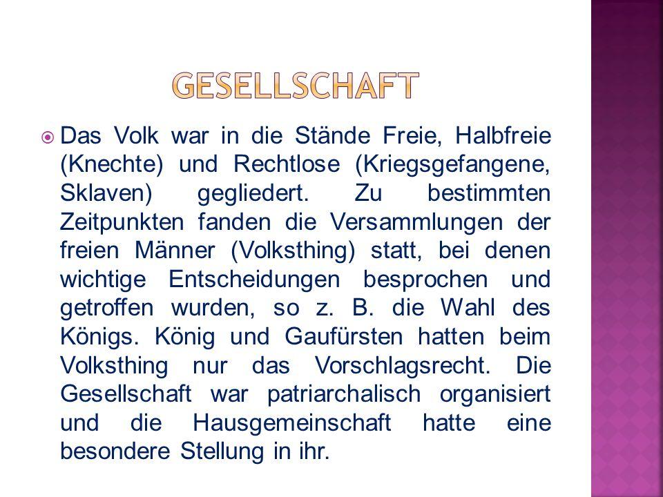  Die Germanen waren hauptsächlich Bauern und gingen nur selten zur Jagd.