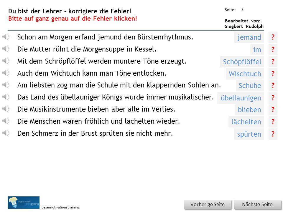 Übungsart: Seite: Bearbeitet von: Siegbert Rudolph Lesemotivationstraining 7 Silbenhammer Bitte klicken.