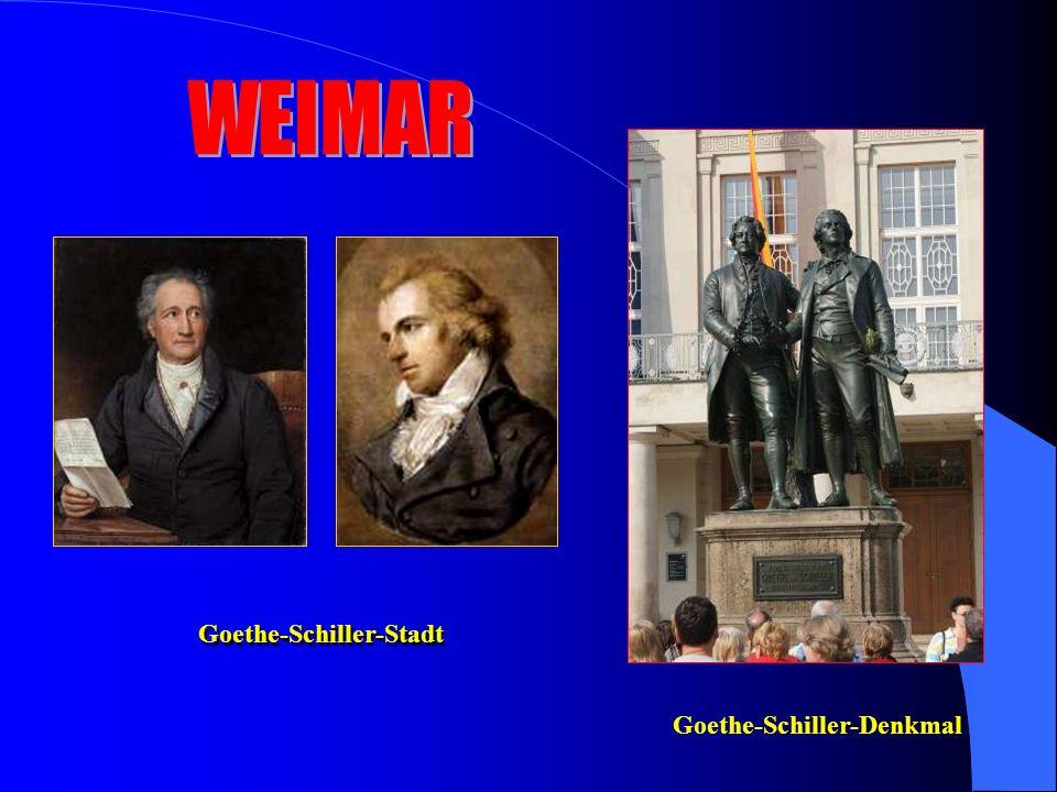 Goethe-Schiller-Stadt Goethe-Schiller-Denkmal