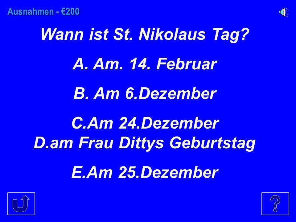 Ausnahmen - €100 Fill in the blank. Jacob und Holger ________ ein Eis.