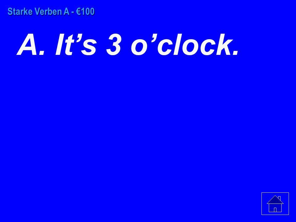 Schwache Verben - €500 C.geil