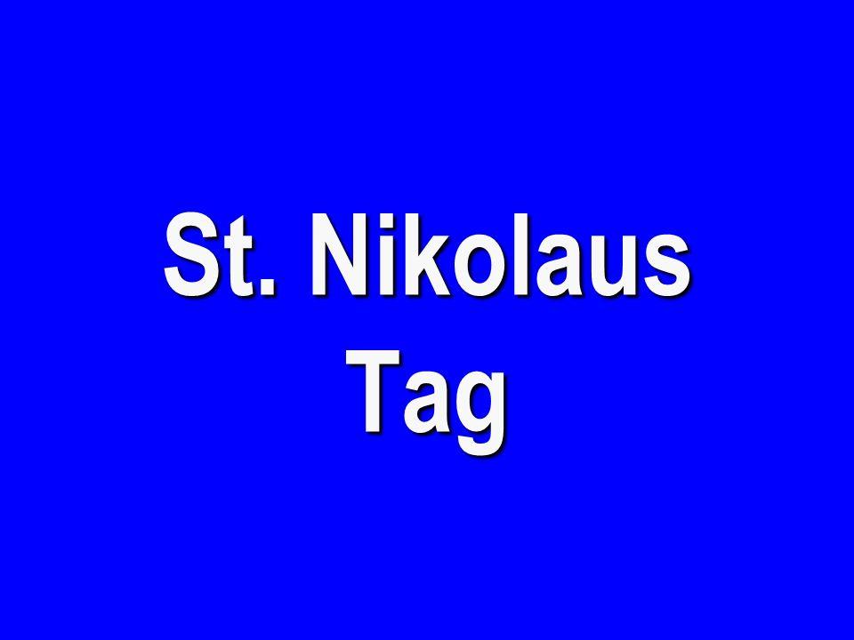 St. Nikolaus Tag