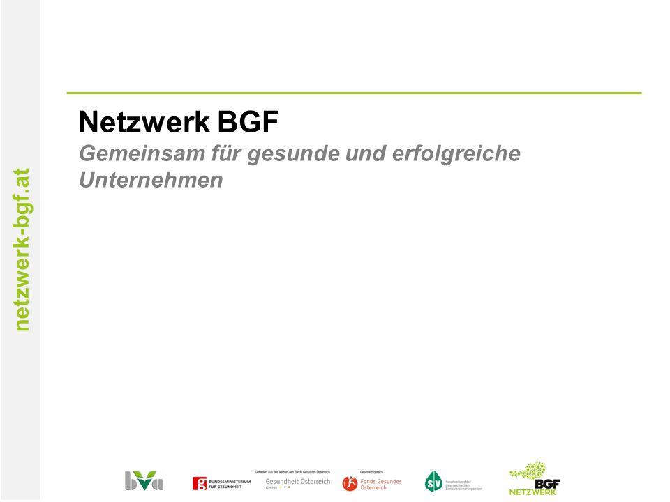 netzwerk-bgf.at Netzwerk BGF Gemeinsam für gesunde und erfolgreiche Unternehmen