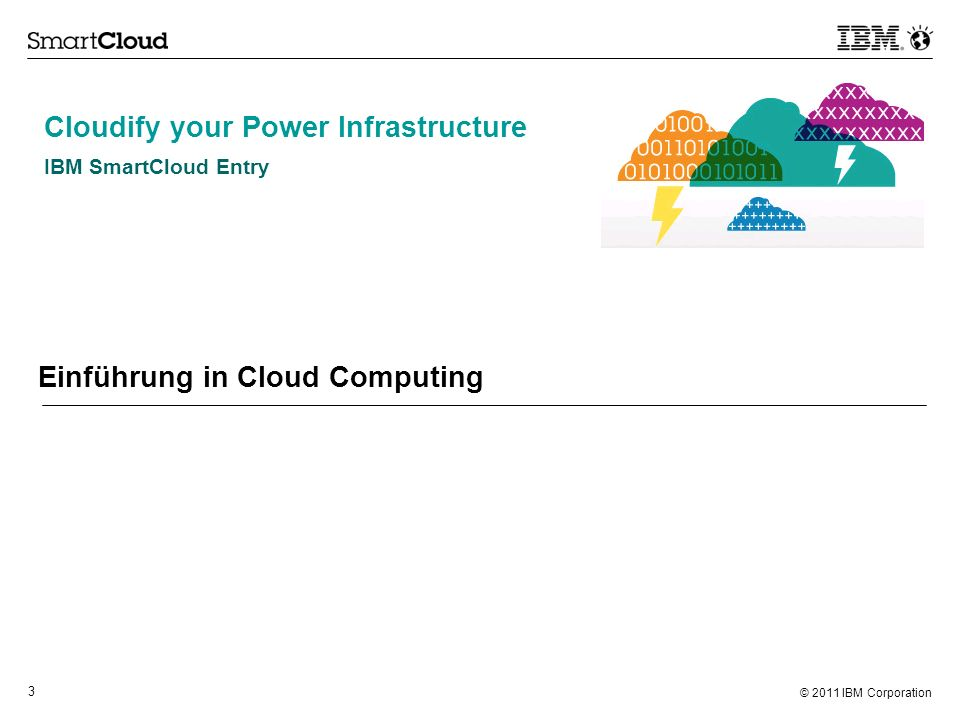 © 2010 IBM Corporation IBM SmartCloud Entry Cloudify your Power Environment.