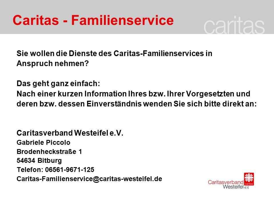 Caritas - Familienservice Kosten: 1.