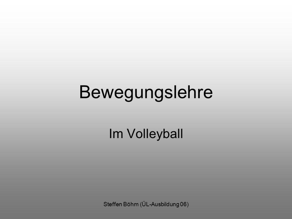 Steffen Böhm (ÜL-Ausbildung 06) Bewegungslehre Im Volleyball