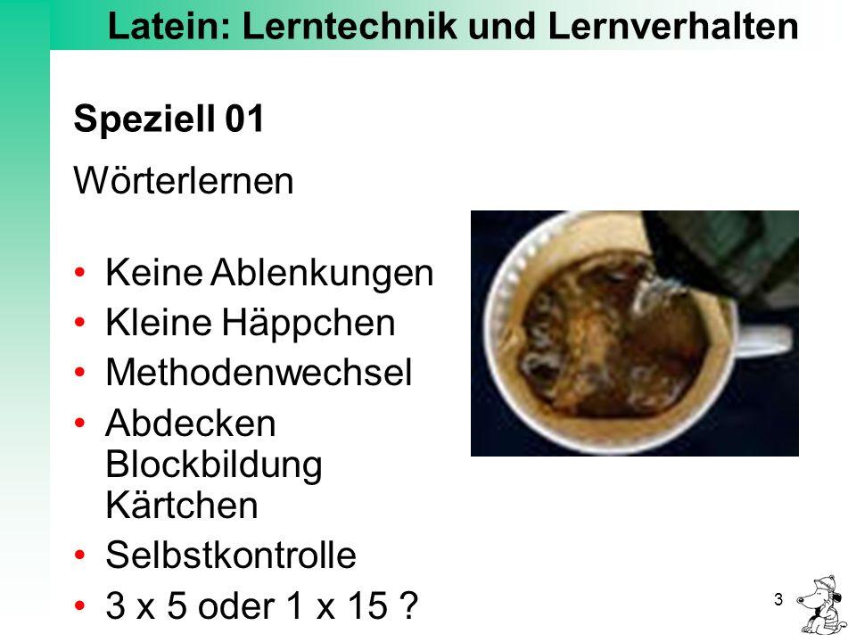 Latein: Lerntechnik und Lernverhalten 4 Speziell 02 Grammatik Lernen mit Dr.