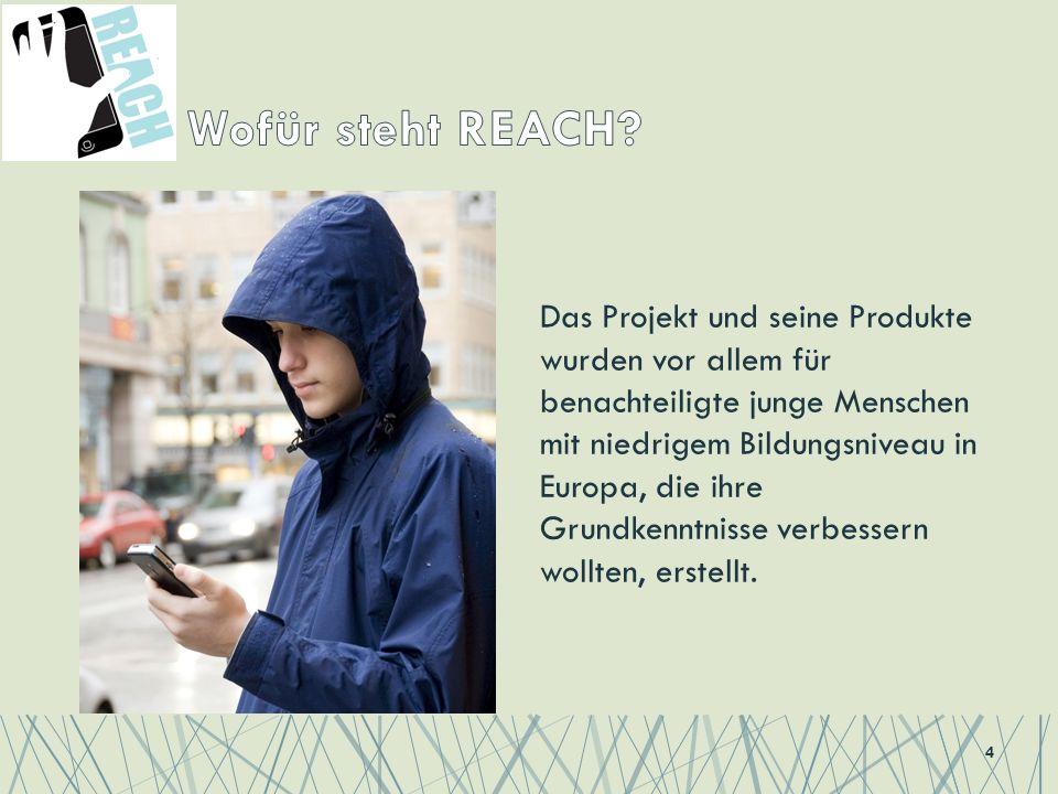 Das Projekt und seine Produkte wurden vor allem für benachteiligte junge Menschen mit niedrigem Bildungsniveau in Europa, die ihre Grundkenntnisse verbessern wollten, erstellt.