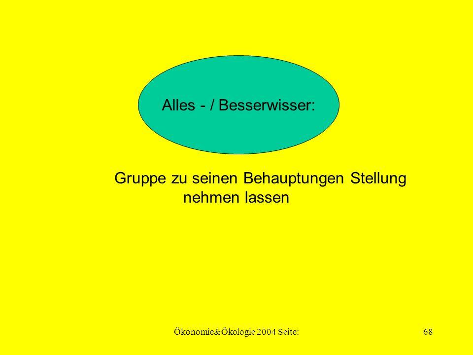 Ökonomie&Ökologie 2004 Seite:67 sachlich und ruhig bleiben, nicht in Streit einlassen Streitsüchtiger: