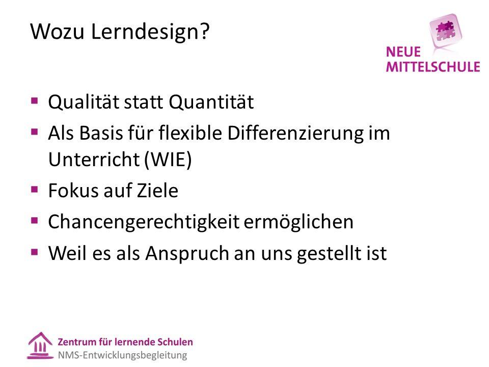 Wozu Lerndesign.