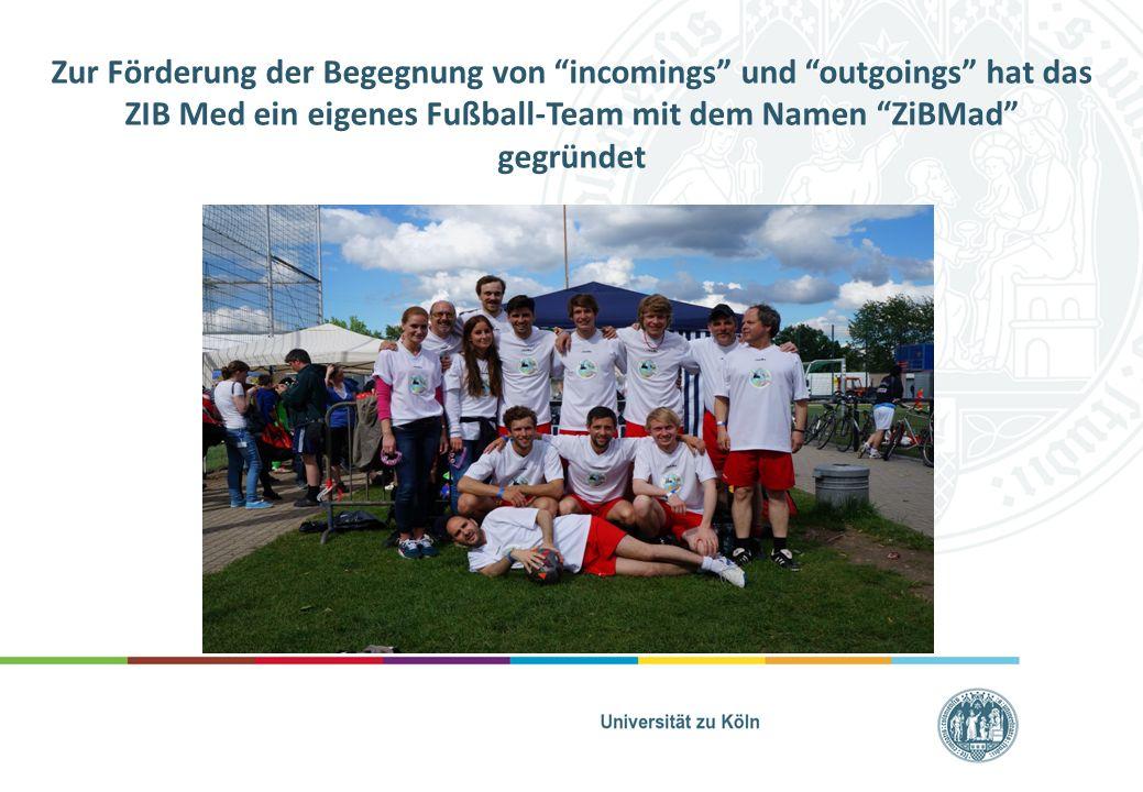 """Zur Förderung der Begegnung von """"incomings"""" und """"outgoings"""" hat das ZIB Med ein eigenes Fußball-Team mit dem Namen """"ZiBMad"""" gegründet"""