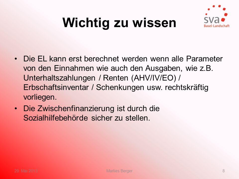 Berechnung der EL in Kürze Ausgaben: für AlleinstehendeFr.