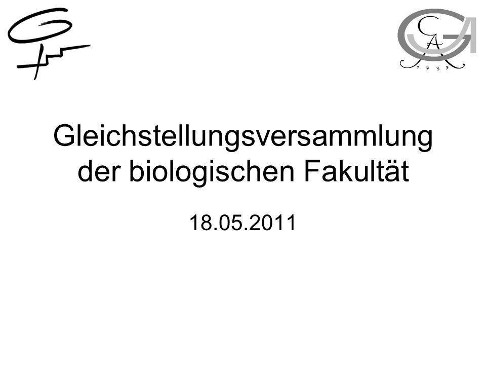 Gleichstellungsversammlung der biologischen Fakultät 18.05.2011