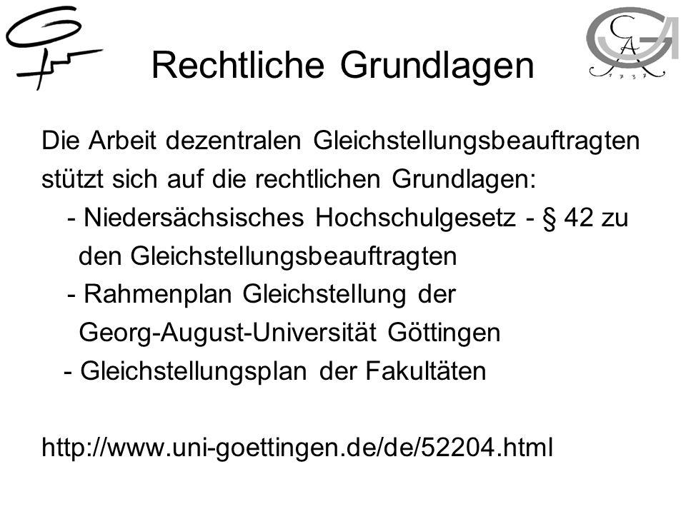 Aufgabenbereiche Teilnahme an Berufungskommissionen Mitarbeit in Gremien und Kommissionen Beratung und Information (z.B.