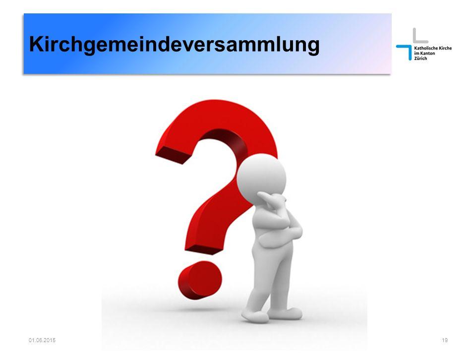 01.06.2015Römisch-katholische Kirchgemeinde Dübendorf19 Kirchgemeindeversammlung