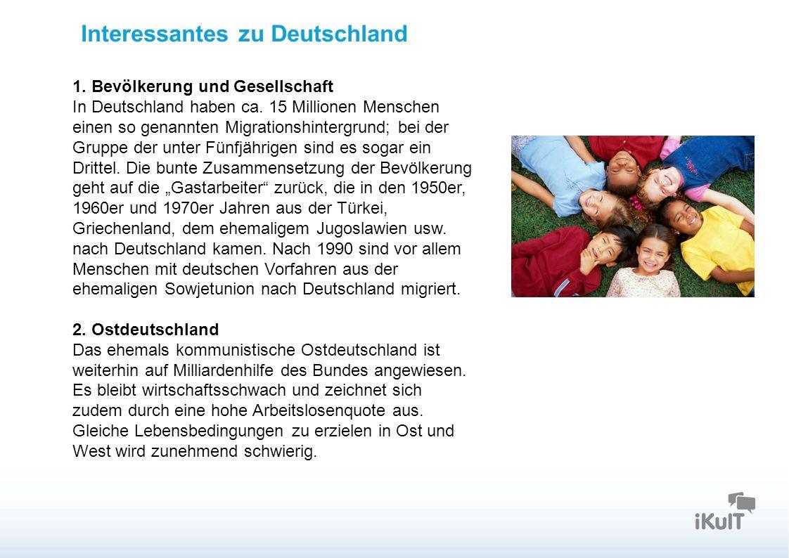 Startseite 1. Bevölkerung und Gesellschaft In Deutschland haben ca.