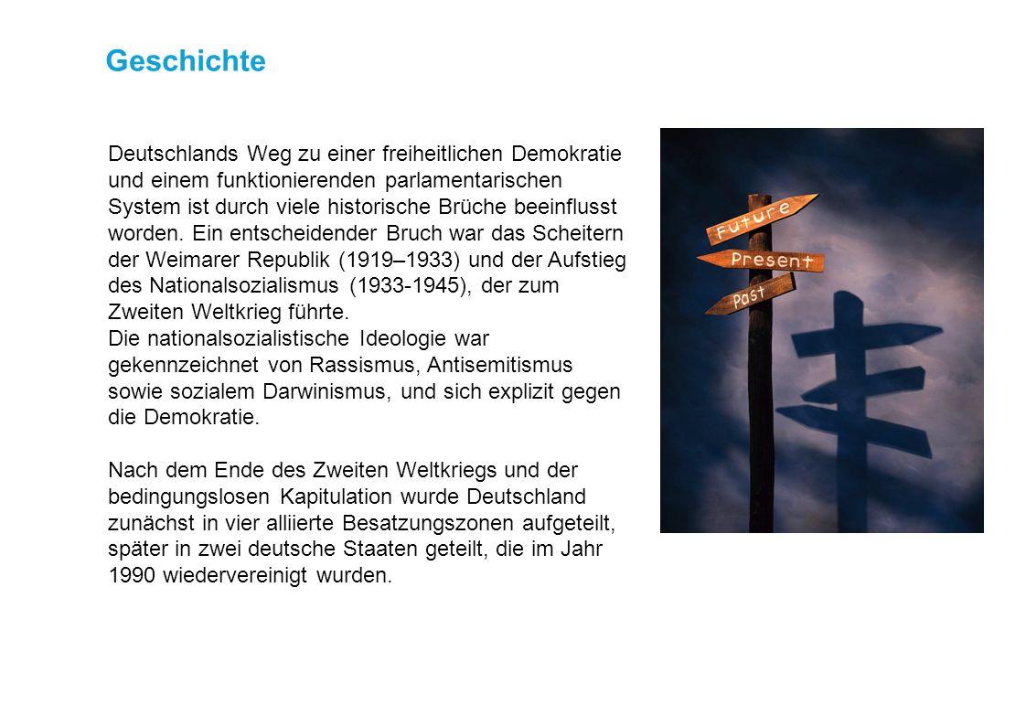 Startseite Geschichte Deutschlands Weg zu einer freiheitlichen Demokratie und einem funktionierenden parlamentarischen System ist durch viele historische Brüche beeinflusst worden.