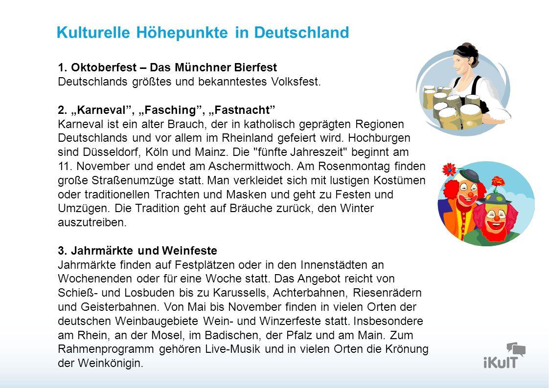 Startseite Kulturelle Höhepunkte in Deutschland 1.