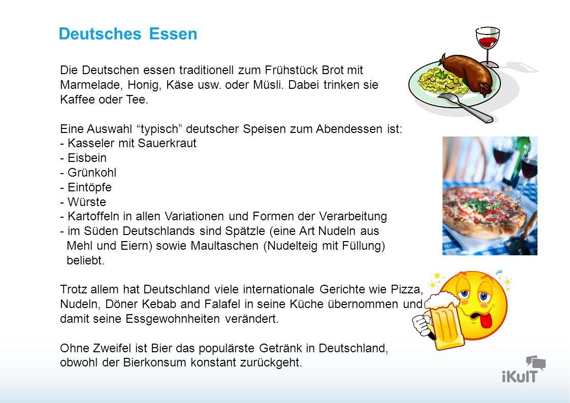 Startseite Deutsches Essen Die Deutschen essen traditionell zum Frühstück Brot mit Marmelade, Honig, Käse usw.