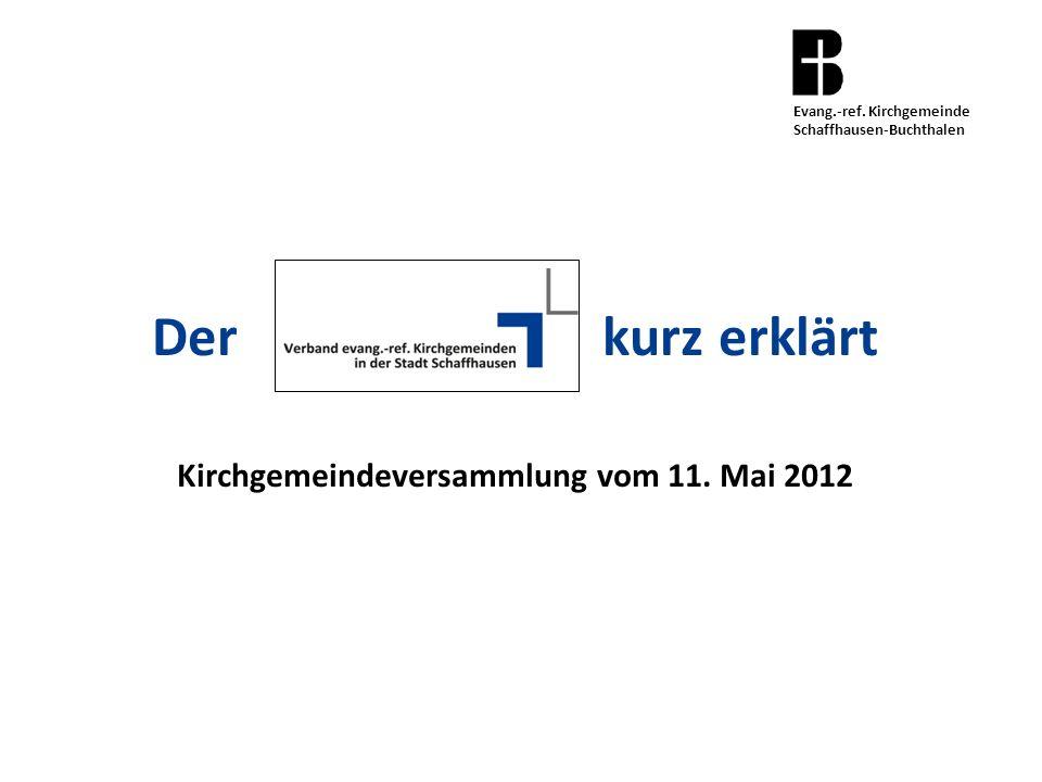 Der kurz erklärt Kirchgemeindeversammlung vom 11. Mai 2012 Evang.-ref.