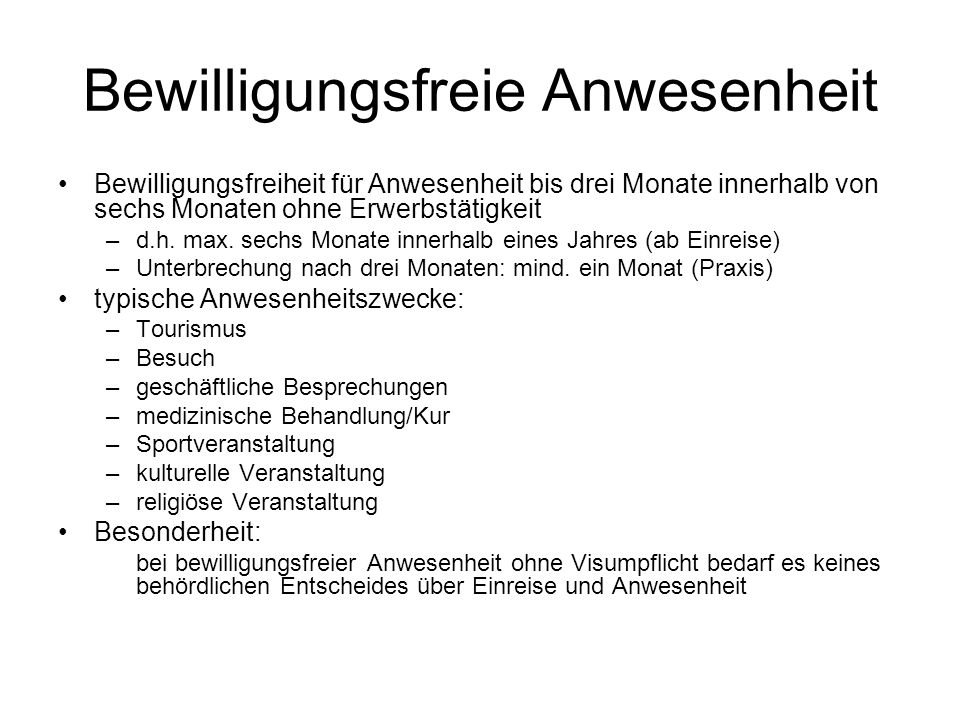 Bewilligungsarten: Kurzaufenthalt Kurzaufenthaltsbewilligung (Art.
