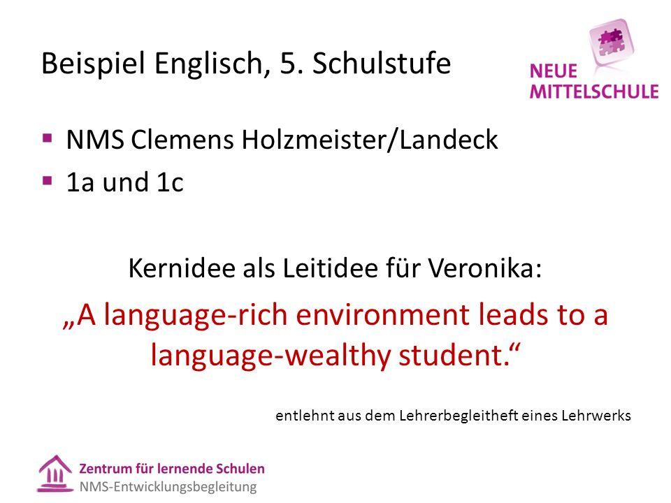 Beispiel Englisch, 5.