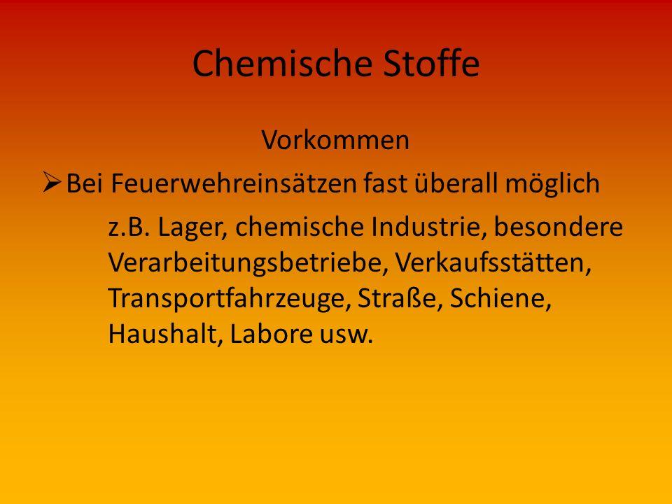 Chemische Stoffe Kennzeichnung von Chemischen Stoffen