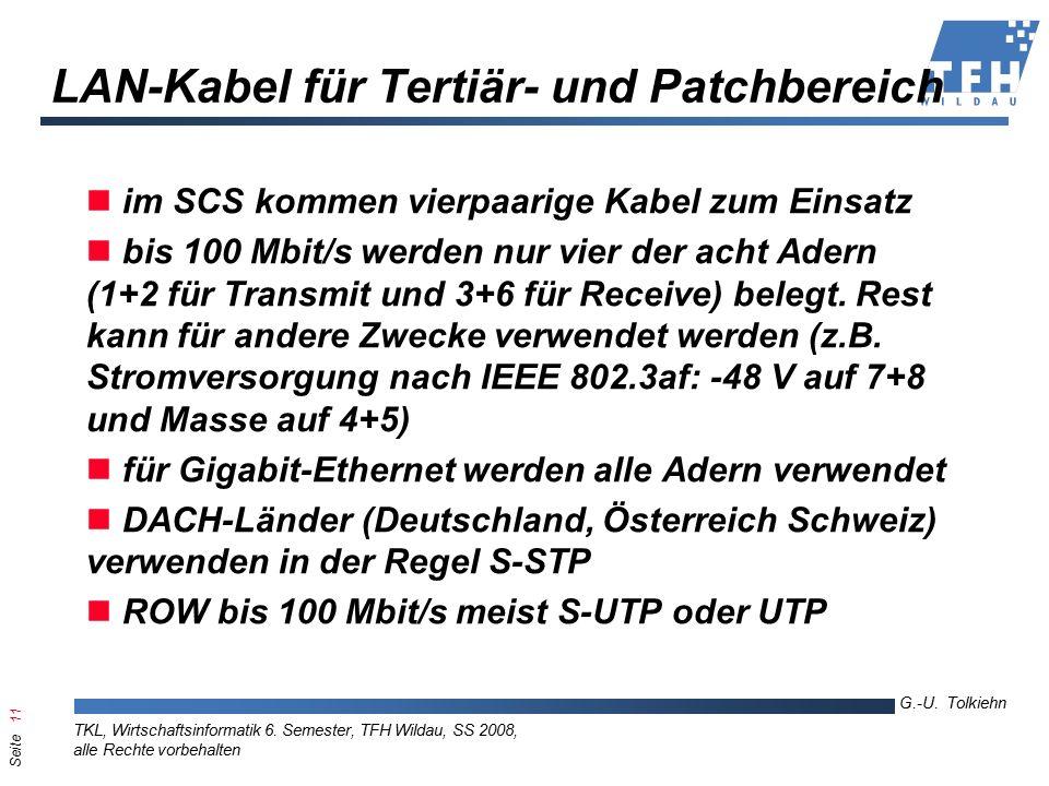 Seite 11 G.-U. Tolkiehn TKL, Wirtschaftsinformatik 6.