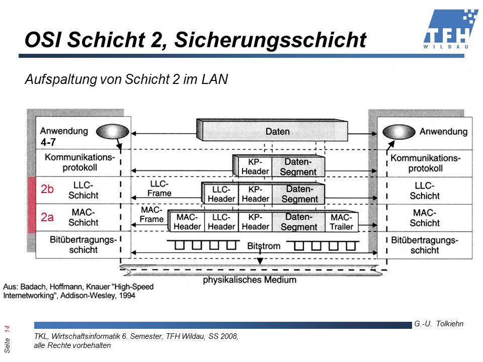 Seite 14 G.-U. Tolkiehn TKL, Wirtschaftsinformatik 6.