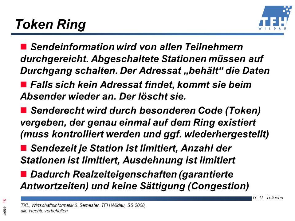 Seite 16 G.-U. Tolkiehn TKL, Wirtschaftsinformatik 6.