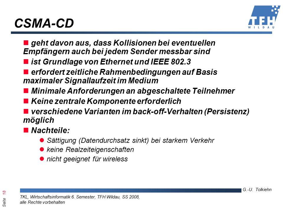 Seite 18 G.-U. Tolkiehn TKL, Wirtschaftsinformatik 6.