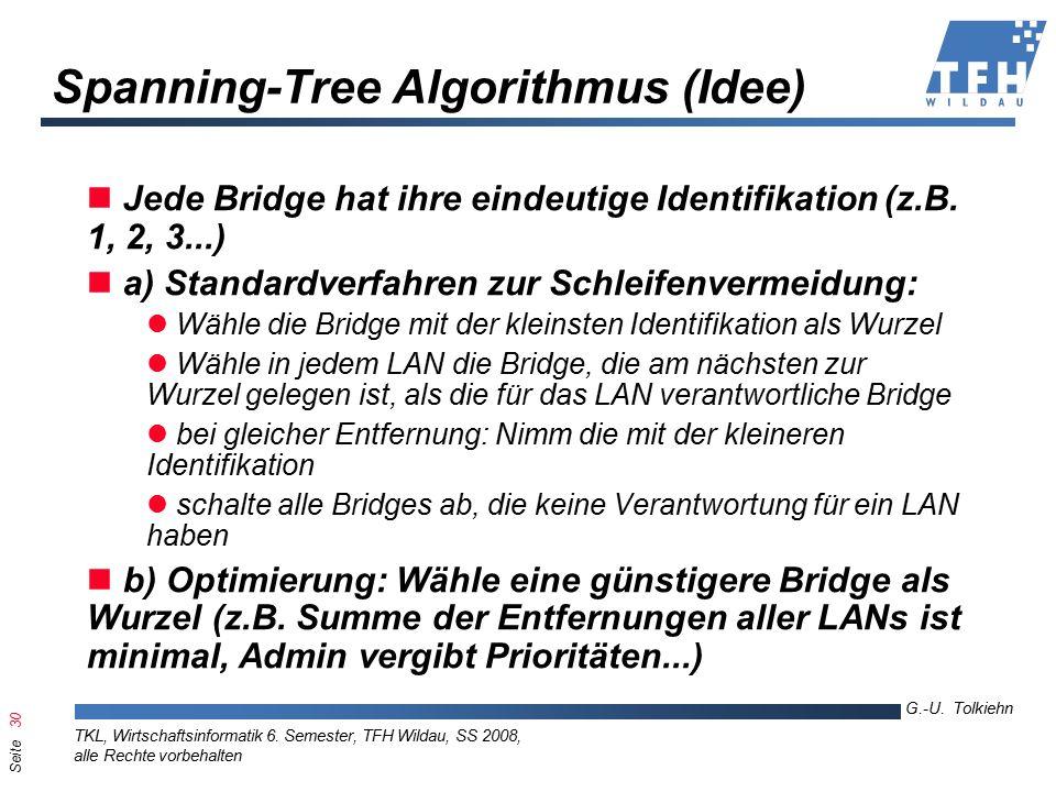 Seite 30 G.-U. Tolkiehn TKL, Wirtschaftsinformatik 6.