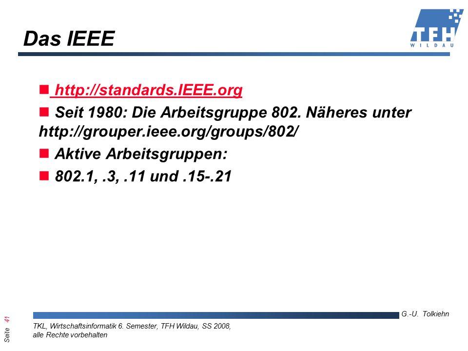 Seite 41 G.-U. Tolkiehn TKL, Wirtschaftsinformatik 6.