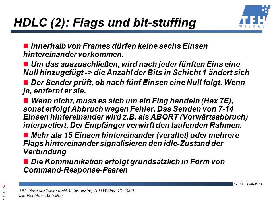 Seite 52 G.-U. Tolkiehn TKL, Wirtschaftsinformatik 6.