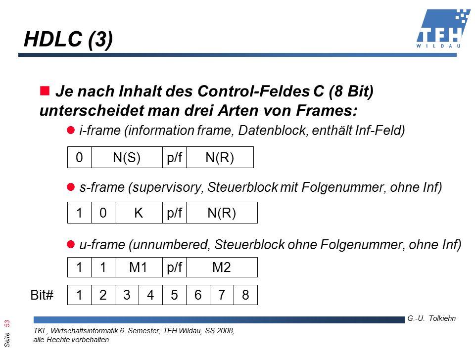 Seite 53 G.-U. Tolkiehn TKL, Wirtschaftsinformatik 6.