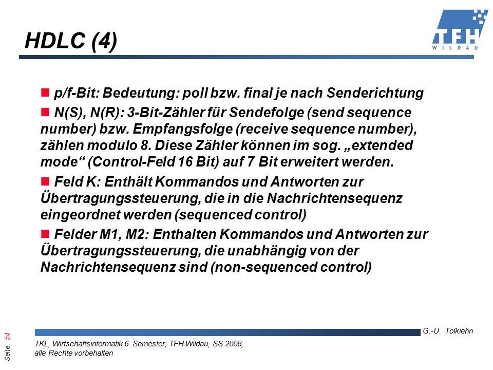 Seite 54 G.-U. Tolkiehn TKL, Wirtschaftsinformatik 6.
