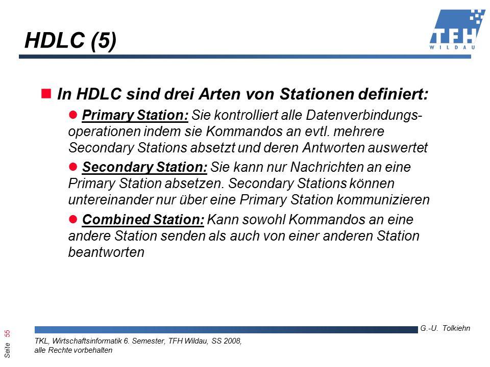 Seite 55 G.-U. Tolkiehn TKL, Wirtschaftsinformatik 6.