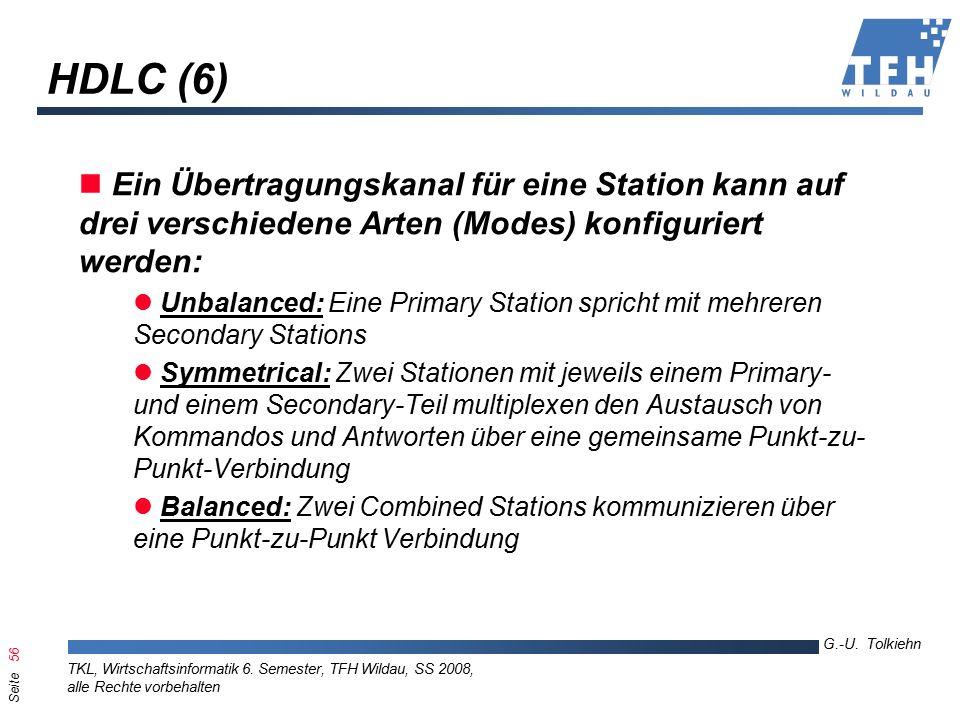 Seite 56 G.-U. Tolkiehn TKL, Wirtschaftsinformatik 6.