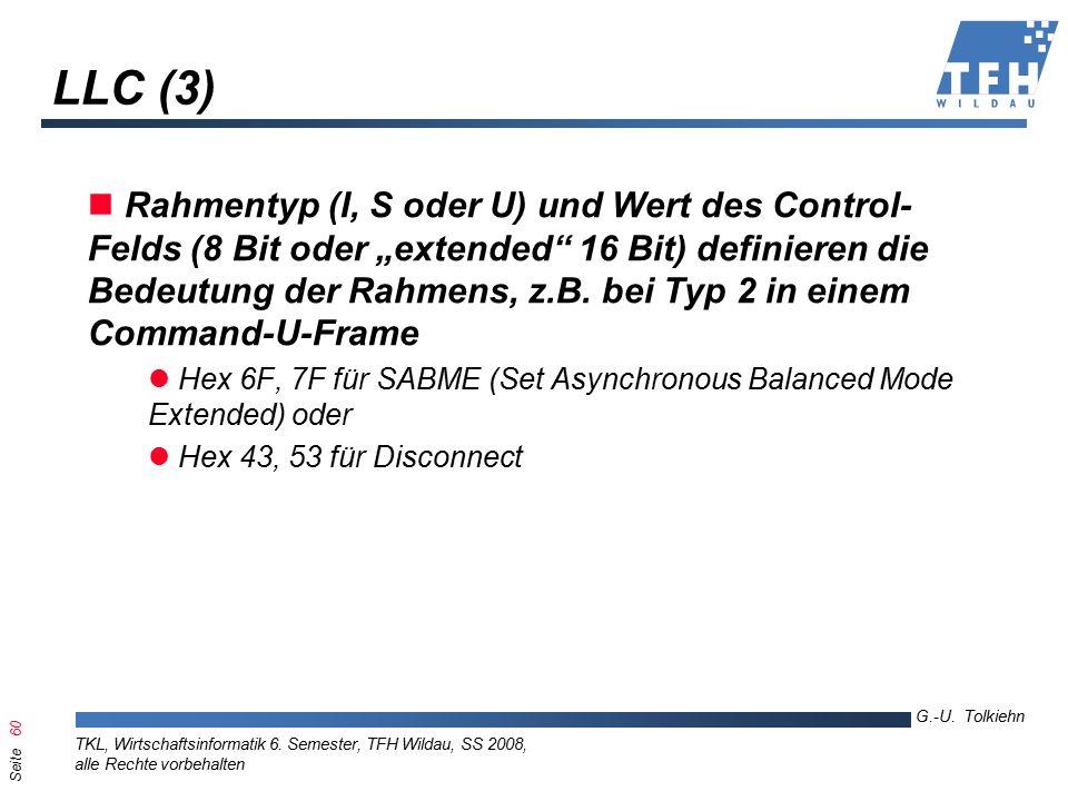 Seite 60 G.-U. Tolkiehn TKL, Wirtschaftsinformatik 6.