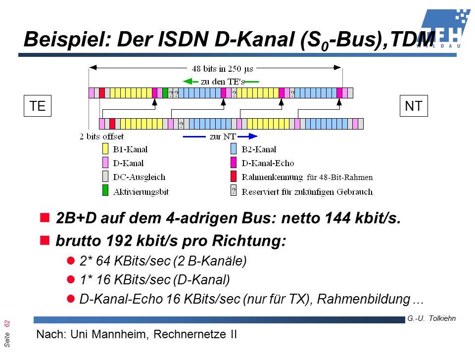Seite 62 G.-U. Tolkiehn TKL, Wirtschaftsinformatik 6.