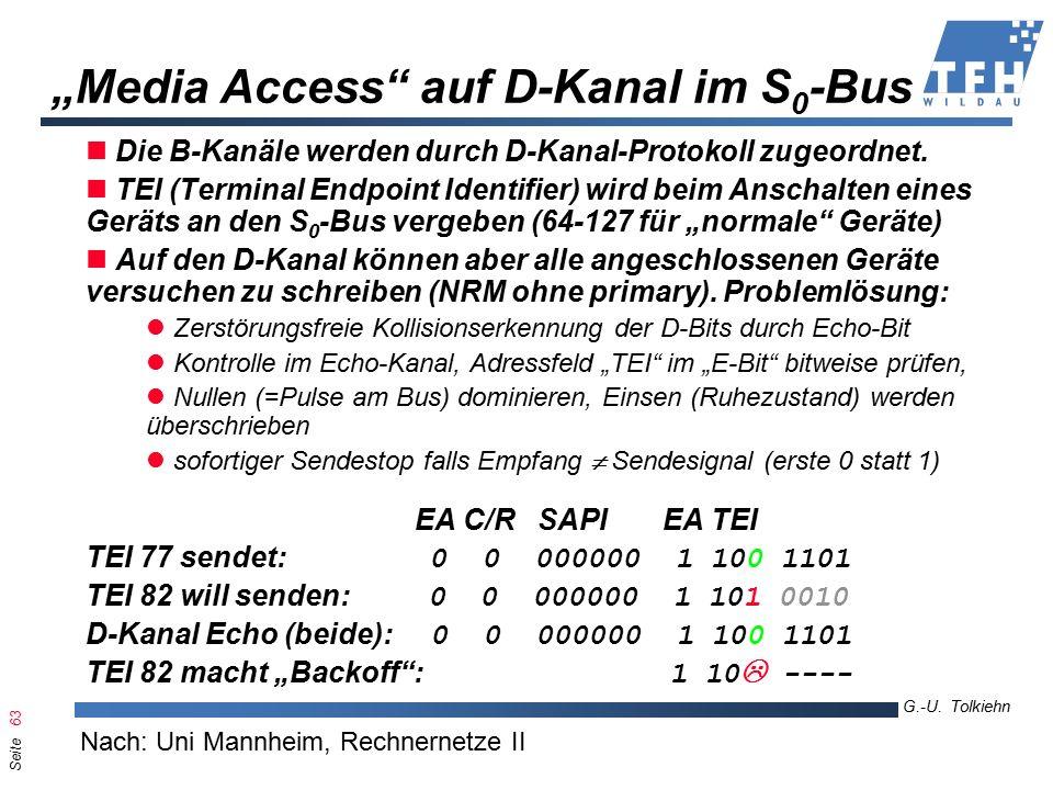 Seite 63 G.-U. Tolkiehn TKL, Wirtschaftsinformatik 6.