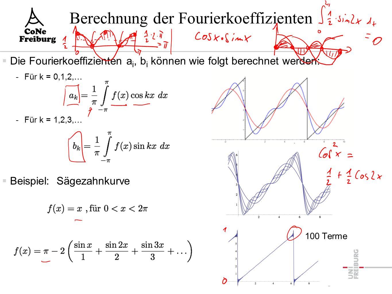 Fouriertransformation  Fouriertransformation einer periodischen Funktion: -Zerlegung in verschiedene -Sinus/Cosinus-Funktionen 32