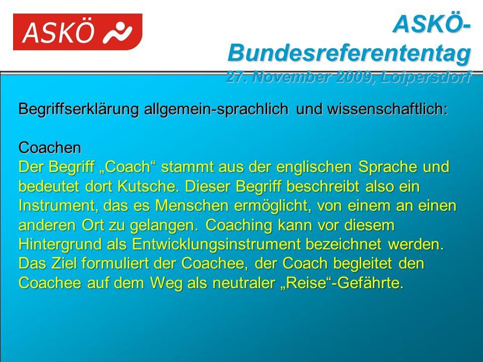 """Begriffserklärung allgemein-sprachlich und wissenschaftlich: Coachen Der Begriff """"Coach stammt aus der englischen Sprache und bedeutet dort Kutsche."""