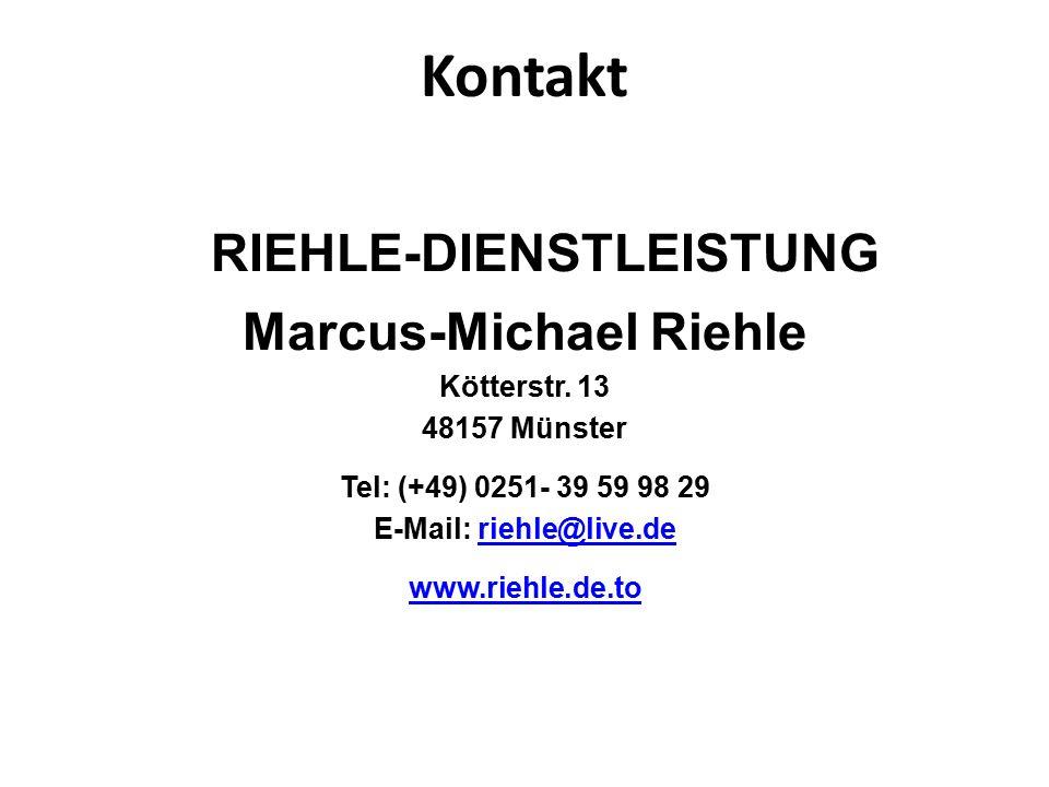 Kontakt RIEHLE-DIENSTLEISTUNG Marcus-Michael Riehle Kötterstr.
